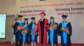 CFVG : remise du master en banque et finance à 50 étudiants à Hô Chi Minh-Ville