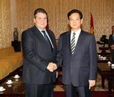 Le Premier ministre Nguyên Tân Dung reçoit le vice-chancelier allemand