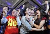 Écosse : le non victorieux à 55,3%, Cameron appelle au