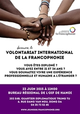 Promo 2015-2016 du volontariat international de la Francophonie