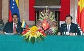 Vietnam-Venezuela : entretien Truong Tân Sang - Nicolás Maduro à Hanoi