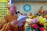 Conférence-bilan du VIIe mandat de l'Église bouddhique du Vietnam