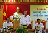 Le vice-PM Truong Hòa Binh inspecte le travail de dédommagement