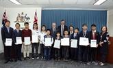 Des élèves vietnamiens honorés à lambassade dAustralie