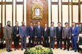 Le président Trân Dai Quang reçoit une délégation dentrepreneurs malgaches