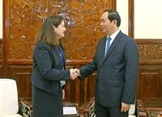Le président Trân Dai Quang reçoit le président du Centre national APEC États-Unis