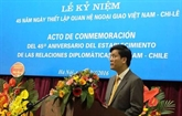 Célébration du 45e anniversaire des relations diplomatiques Vietnam-Chili