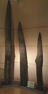 Des pieux de bois symboles des victoires contre les envahisseurs