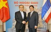 Entretien entre Pham Binh Minh et le ministre thaïlandais des Affaires étrangères