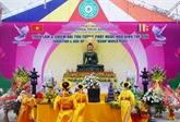Vinh Phuc reçoit la statue du Bouddha de Jade pour la paix universelle