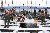 La neige perturbe les épreuves, les descentes de Wengen et Altenmarkt annulées