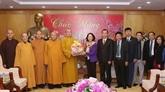 Rencontre des délégations de dignitaires religieux à loccasion du Nouvel An lunaire