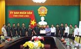 Têt traditionnel : des responsables de la Garde royale du Cambodge se rendent à Vinh Long