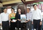 La présidente de l'AN, Nguyên Thi Kim Ngân, en tournée à Diên Biên