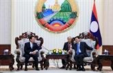 Le PM lao appuie la coopération financière avec le Vietnam