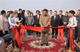 Inauguration de lavenue de lamitié Phnom Penh-Hanoï au Cambodge