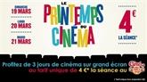 Printemps du cinéma : 4 euros la séance du 19 au 21 mars