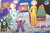 Exposition de peintures denfants à Hanoï