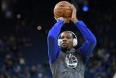 NBA : Durant toujours incertain pour les Warriors