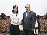 Vietnam-Chine : le PM reçoit la directrice générale du groupe taïwanais Pou Chen