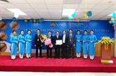 Une compagnie de Vietnam Airlines honorée par des étrangers