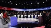 Présidentielle française : le débat inédit à onze secoué par l'entrée en jeu des