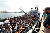 Près de 500 migrants sur une embarcation interceptée par les garde-côtes libyens