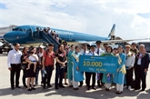 Vietnam Airlines accueille son 10.000e vol international à Dà Nang
