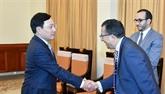 Le vice-Premier ministre et ministre des Affaires étrangères reçoit l'ambassadeur du Maroc