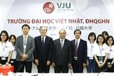 Université Vietnam - Japon, symbole du partenariat stratégique