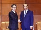 Le Premier ministre Nguyên Xuân Phuc reçoit le ministre japonais du Commerce