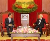 Des dirigeants reçoivent l'envoyé spécial du président sud-coréen