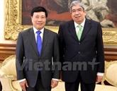 Le président de l'Assemblée de la République du Portugal reçoit le vice-Premier ministre Pham Binh Minh