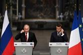 Syrie, médias russes : à Versailles, Macron a parlé cash à Poutine