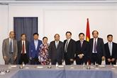 Le PM reçoit des entrepreneurs et intellectuels vietnamiens aux États-Unis