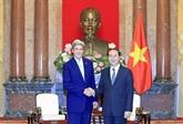 Trân Dai Quang invite John Kerry à continuer à soutenir les liens vietnamo-américains
