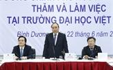 Le Premier ministre se rend à l'Université Vietnam - Allemagne