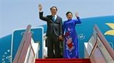 Le président Trân Dai Quang quitte le Bélarus pour la Russie