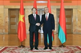 Trân Dai Quang rencontre des dirigeants biélorusses