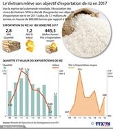 Le Vietnam relève son objectif dexportation de riz en 2017
