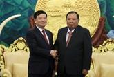 Le leader du PPRL souligne le rôle de l'Association d'amitié Vietnam - Laos