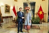 Le vice-Premier ministre Vuong Dinh Huê entame sa visite en Indonésie