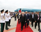 Le secrétaire général du PCV arrive à Phnom Penh