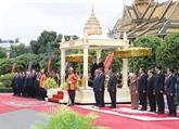 Cérémonie d'accueil à Phnom Penh du chef du PCV
