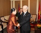 Le secrétaire général du PCV rencontre des amis cambodgiens