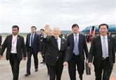 Le secrétaire général du PCV termine sa visite d'État au Cambodge
