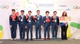 Quatre médailles dor pour le Vietnam lors des Olympiades internationales des mathématiques 2017
