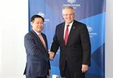 Le vice-Premier ministre Vuong Dinh Huê en visite de travail en Australie