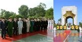 Les dirigeants du pays rendent hommage aux morts pour la Patrie