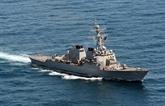 Collision au large de Singapour : 10 marins dun destroyer américain portés disparus, 5 blessés